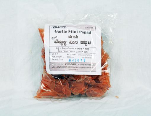 Chandu's Garlic Mini Papad 100gms