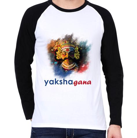 yakshagana raglan t-shirt mens
