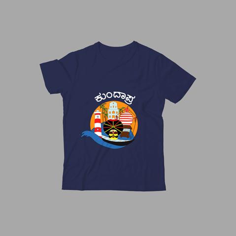 Kundapra - Kids T-Shirt-navy-blue