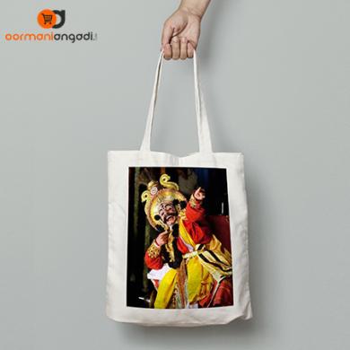 Yakshagana Pose Tote Bag