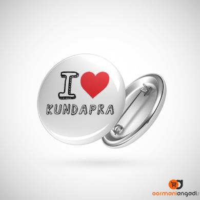 I love Kundapara Button Badge