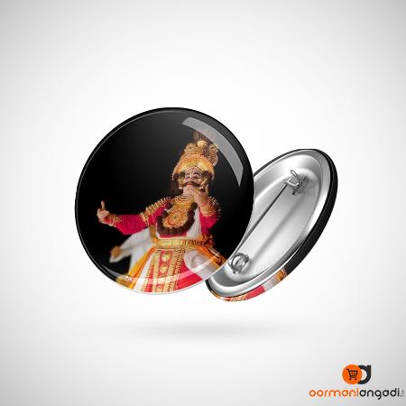 Yakshagana Dance Button Badge