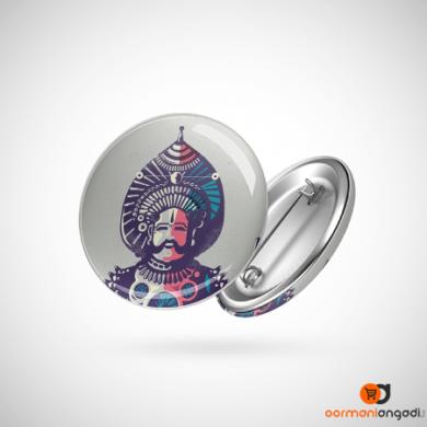 Yakshagana Abstract Button Badge