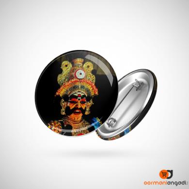 Yakshagana Look Button Badge
