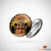 Yakshagana Smile Button Badge
