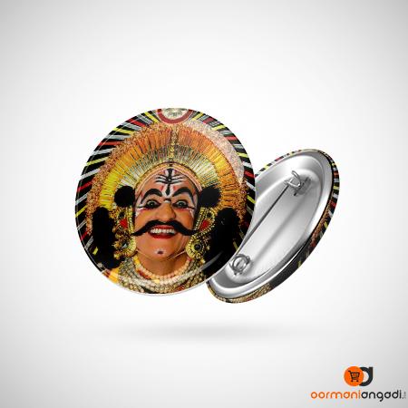Yakshagana Smile Button Badge