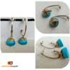 Antique Gold & Blue Silk Thread Jhumka | Ethnic Essence