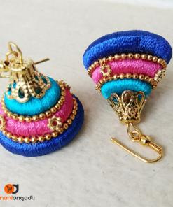 Antique Gold Tiered Jhumka | Ethnic Essence
