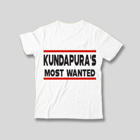 Kundapura's Most Wanted Kids T - Shirt