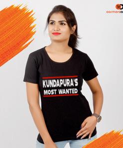 Kundapura's Most Wanted Women's T-Shirt