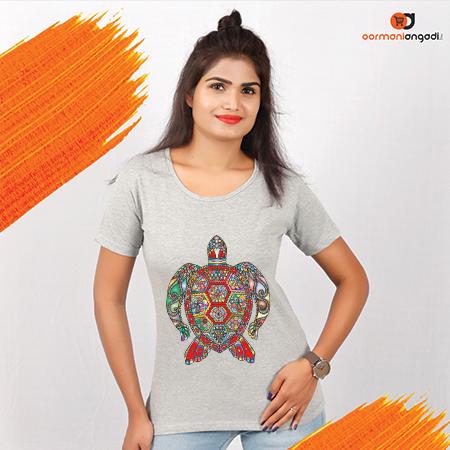 Floral Sea Turtle Women's T-Shirt