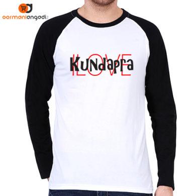 I Love Kundapra Raglan T-Shirt - Men's