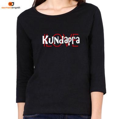 I Love Kundapra Women's Full Sleeve T-Shirt
