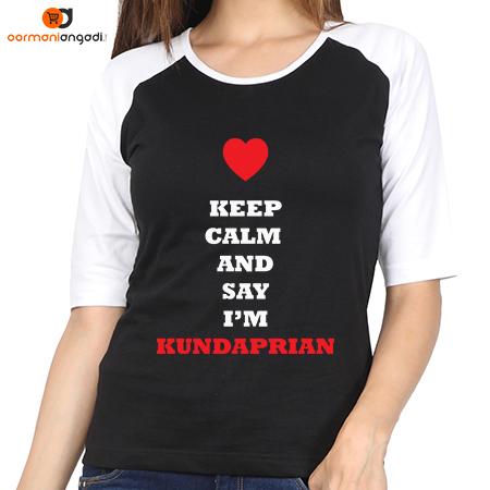 Keep Calm And Say I'm Kundaprian Raglan T-Shirt – Women's