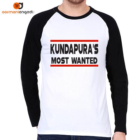 Kundapura's Most Wanted Men's Raglan T-Shirt
