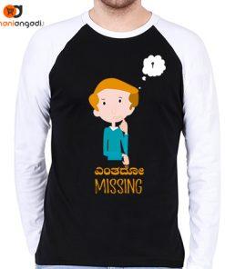 Yentado Missing Raglan T-Shirt - Men's